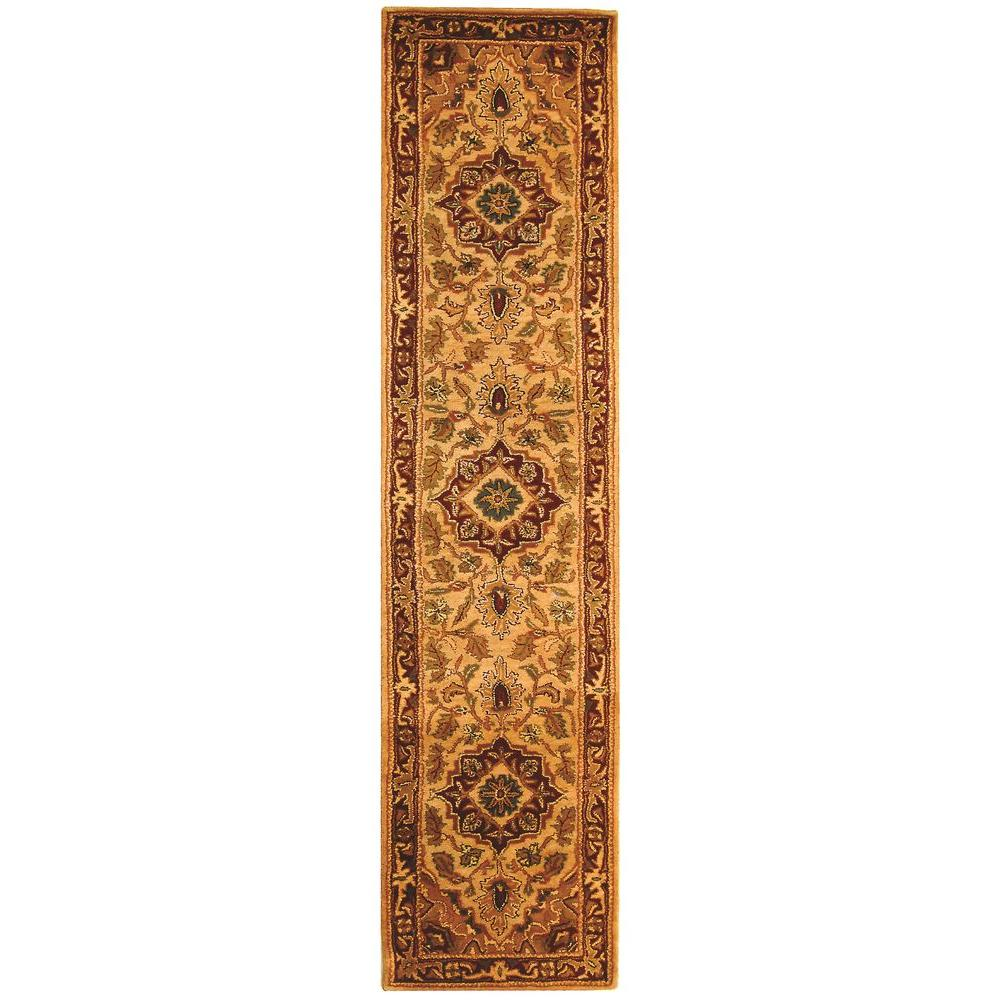 Safavieh Classic Light Gold/Red 2 ft. 3 in. x 12 ft. Runner