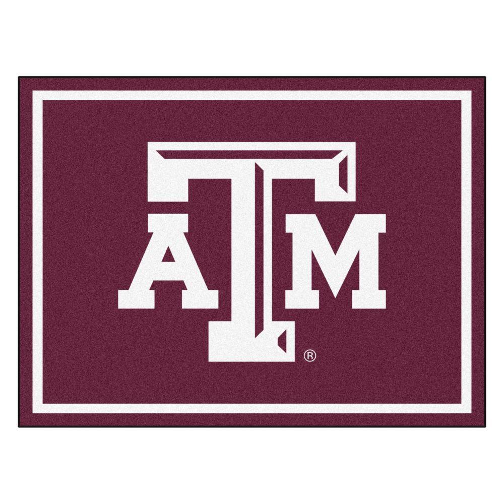 NCAA Texas A&M University Burgundy 8 ft. x 10 ft. Indoor Area Rug