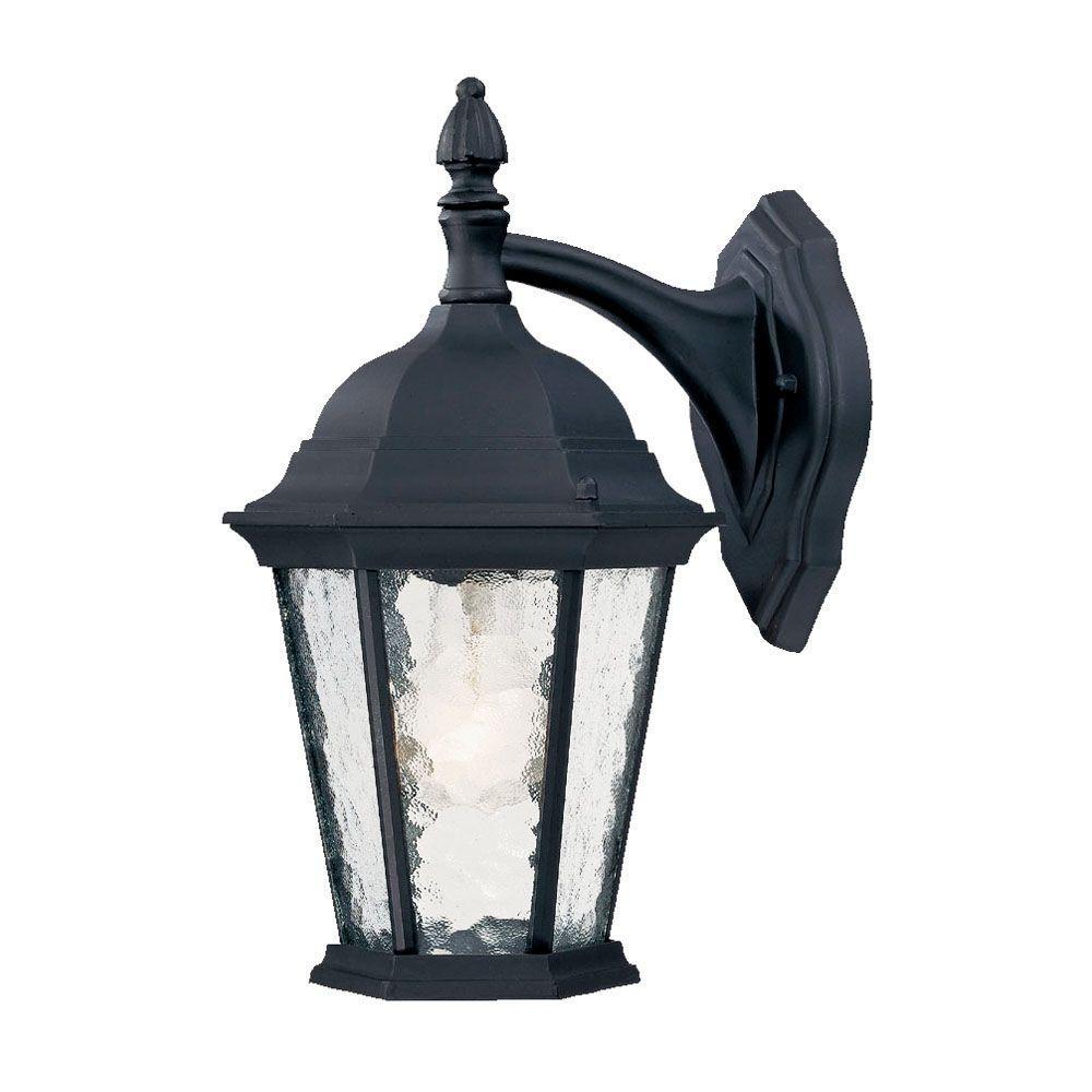 Telfair Collection 1-Light Matte Black Outdoor Wall-Mount Light Fixture