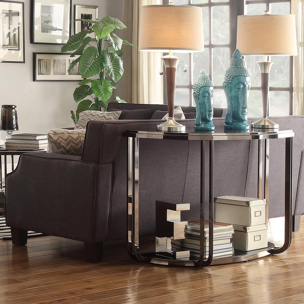 HomeSullivan DuPont Dark Nickel Console Table