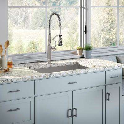 Strive Undermount Stainless Steel 29 in. Single Bowl Kitchen Sink with Tournant Faucet