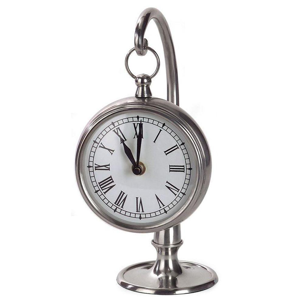 Home Decorators Collection 11 in. x 6 in. Hanging Desk Clock