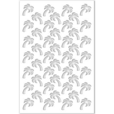 1/4 in. x 32 in. x 4 ft. White Palm Tree Vinyl Decor Panel