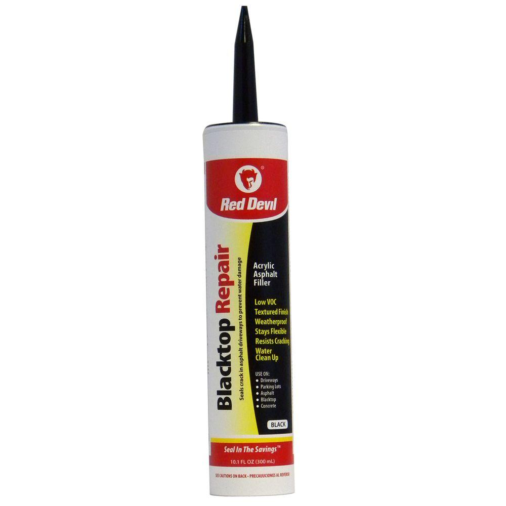Red Devil 10 1 Oz Blacktop Driveway Repair Caulk 0637 The Home Depot