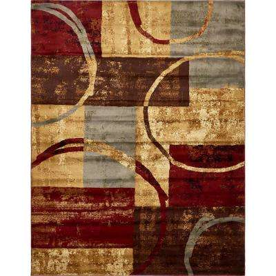 Coffee Shop Multi 9 ft. x 12 ft. Area Rug