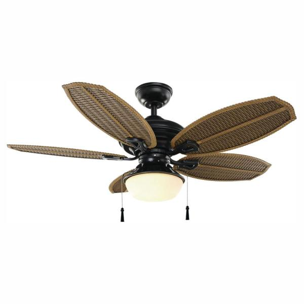 Palm Beach III 48 in. LED Indoor/Outdoor Natural Iron Ceiling Fan with Light Kit