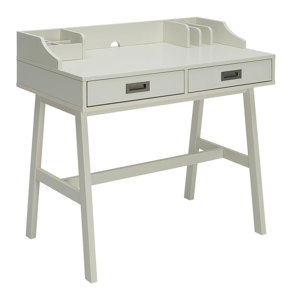 Sadie Polar White Small Office Desk by