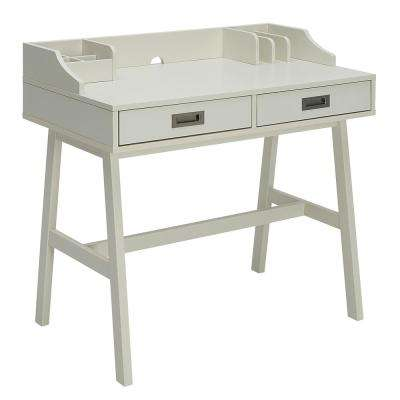 Sadie Polar White Small Office Desk
