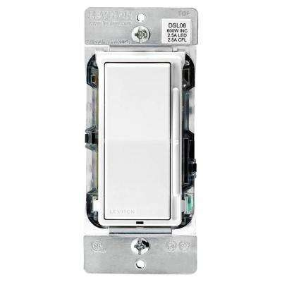 Decora 600-Watt Single-Pole/3-Way Universal Rocker Slide Dimmer, White  (3-Pack)