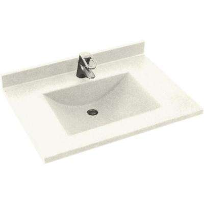 Contour 25 in. Solid Surface Vanity Top with Basin in Bisque
