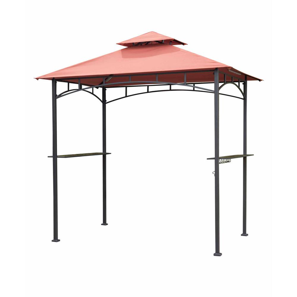 Sunjoy 8 ft. x 5 ft. Grill Gazebo with Canopy-110103011 - The Home ...