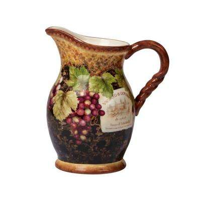 Gilded Wine 88 oz. Multi-Colored Pitcher