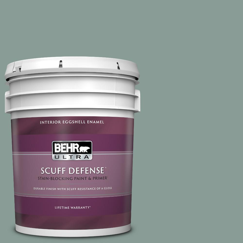 Reviews For Behr Ultra 5 Gal 490f 5 Cloud Burst Extra Durable Eggshell Enamel Interior Paint Primer 275405 The Home Depot
