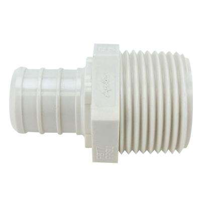 3/4 in. Plastic PEX Barb x Male Pipe Thread Adapter Jar (25-Pack)