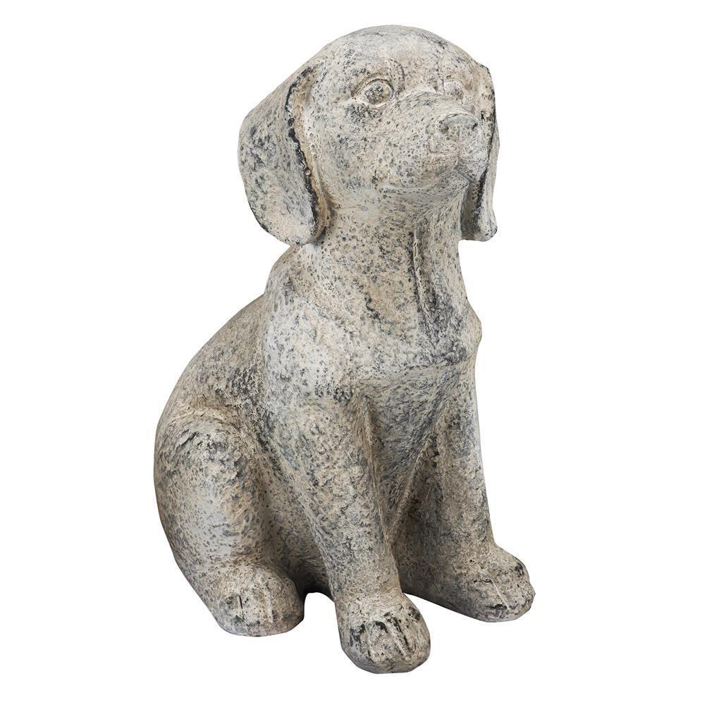 16 in. Magnesia Dog Statue