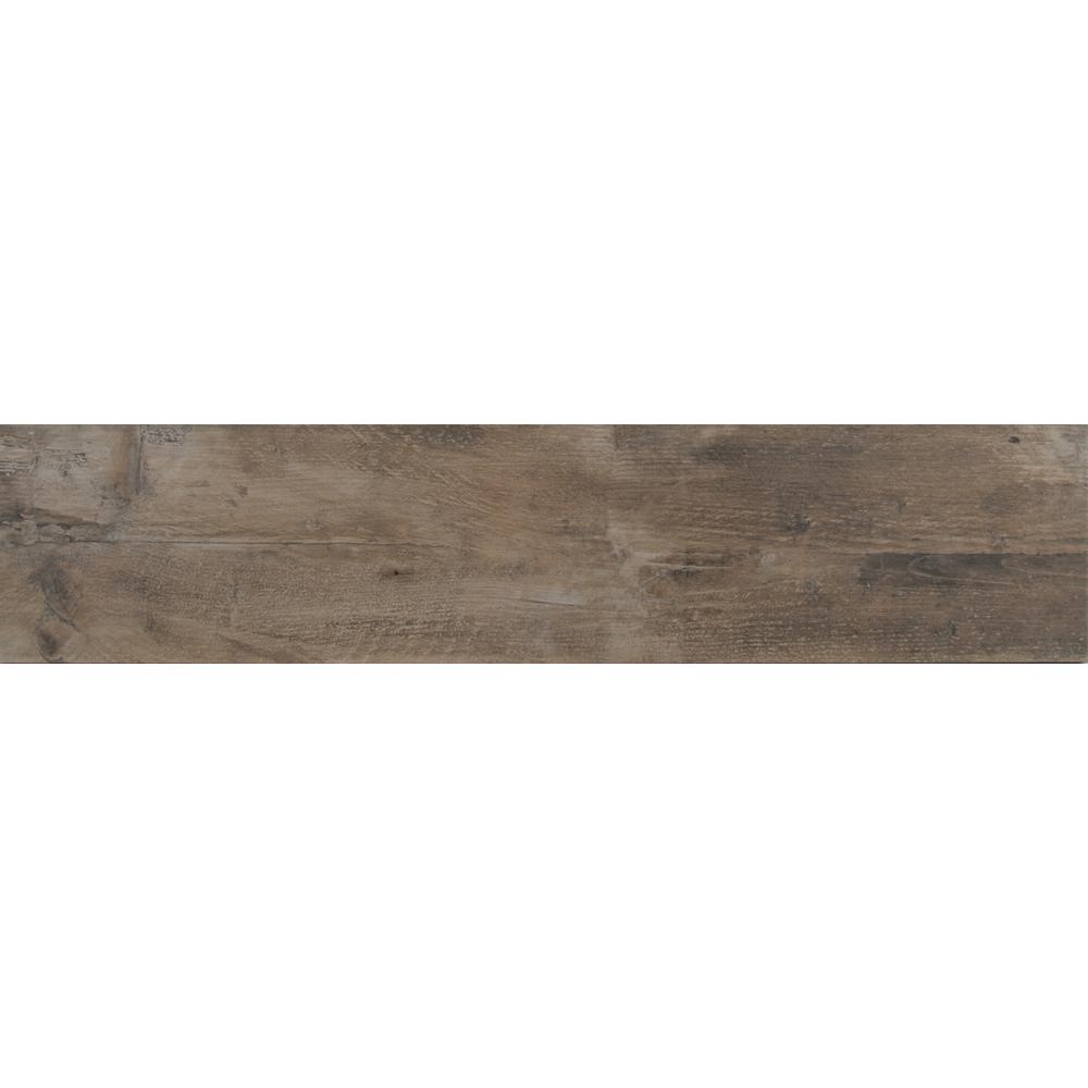 MSI Barnwood Cognac 8 in. x 36 in. Glazed Porcelain Floor and Wall Tile (14 sq. ft. / case)