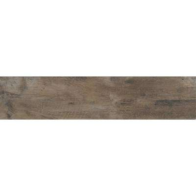 Barnwood Cognac 8 in. x 36 in. Glazed Porcelain Floor and Wall Tile (14 sq. ft. / case)