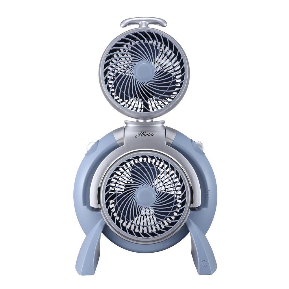 Adjustable-Position 10 in. 3-Speed Dual Tower Fan