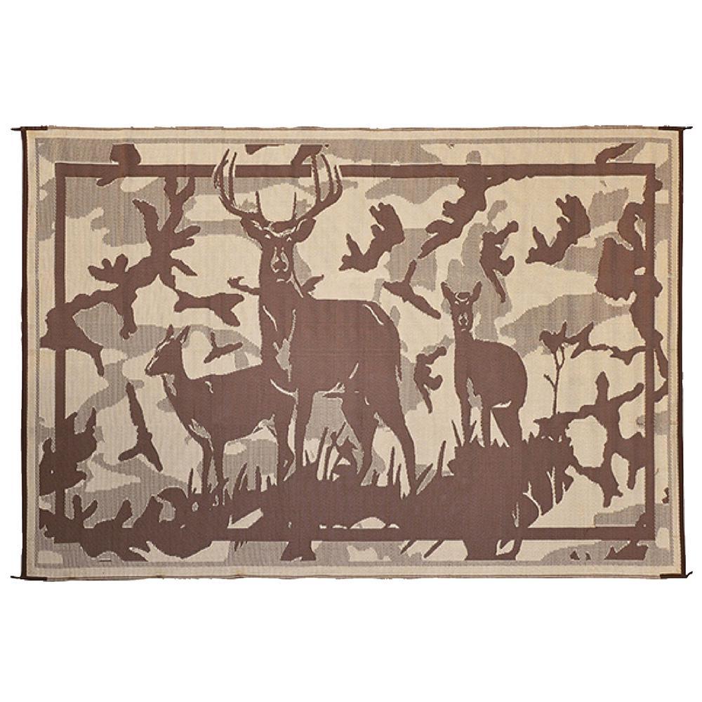 8 ft. x 11 ft. Deer Camo/Brown Reversible Mat