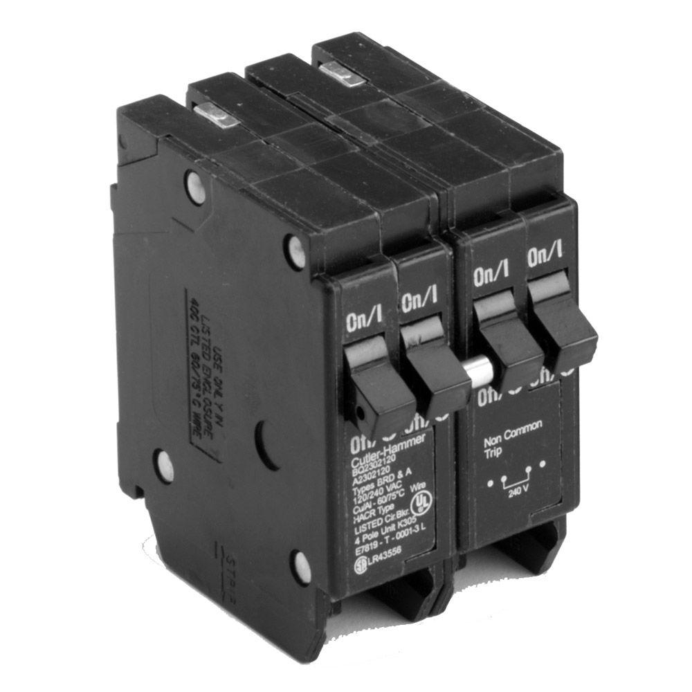 Eaton BR 1-50 Amp 2 Pole and 2-20 Amp 1 Pole BQ (Independent Trip ...