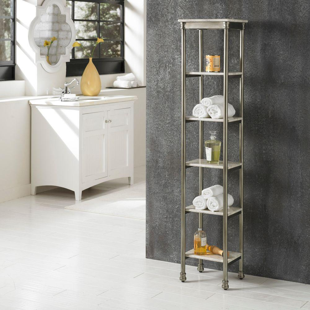 Home Styles Orleans Gray Marble Storage Furniture