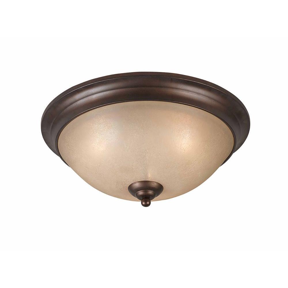 Filament Design Purelife 3-Light Bronze Flushmount