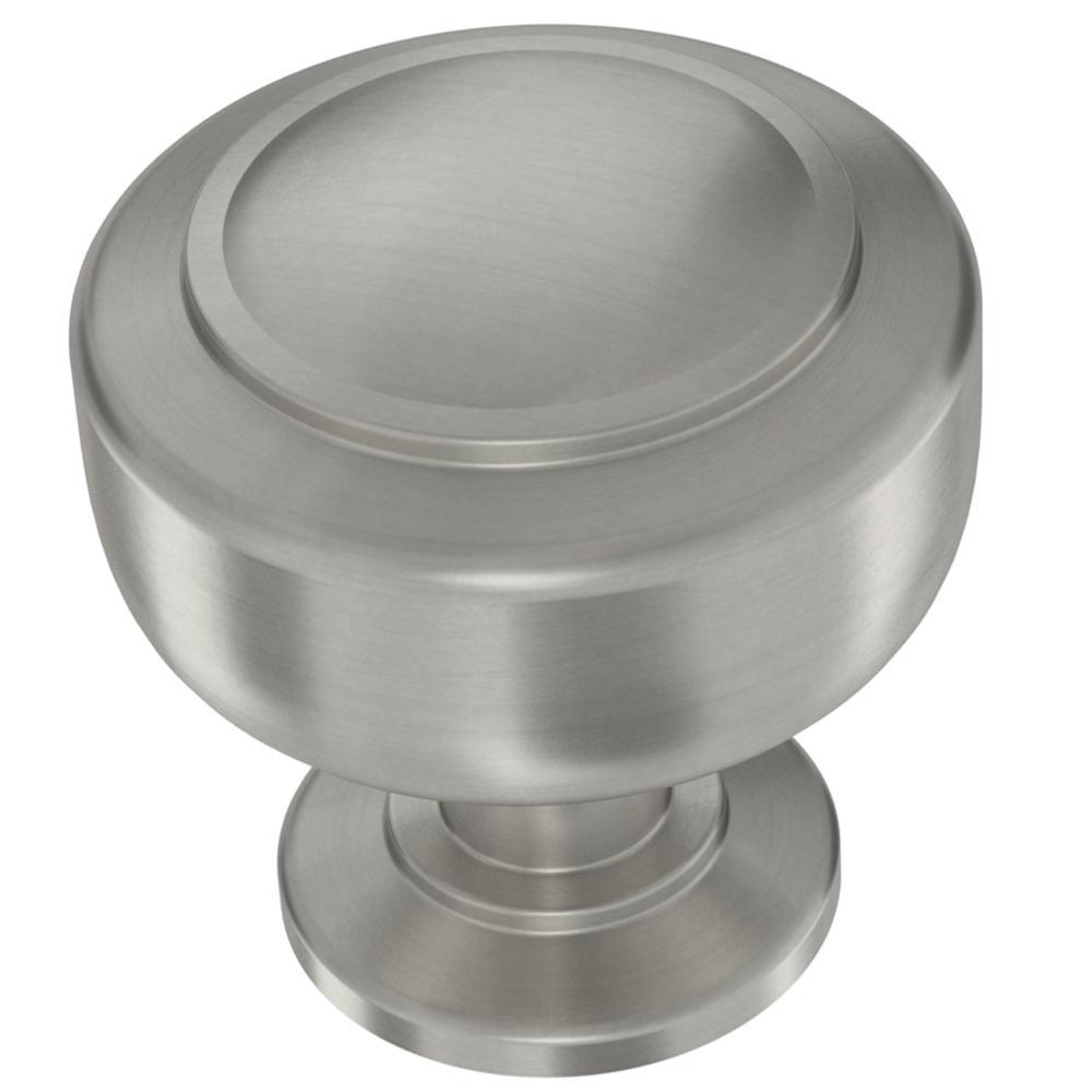 Floating 1-3/16 in. (30 mm) Satin Nickel Cabinet Knob
