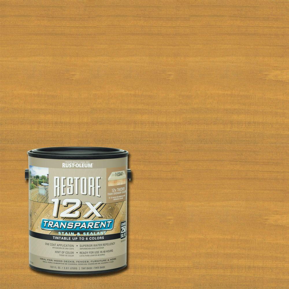 Rust-Oleum Restore 1 Gallon 12X Transparent Golden Pine Stain and Sealant