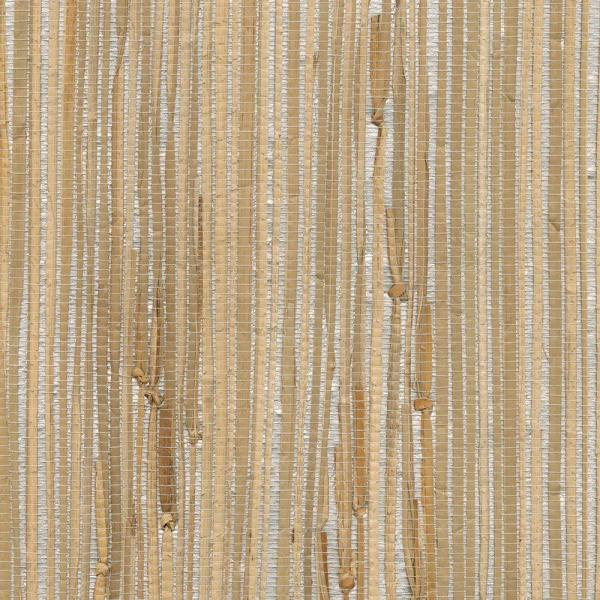 Silver Grasscloth Wallpaper: Kenneth James Tereza Silver Foil Grasscloth Wallpaper 2622