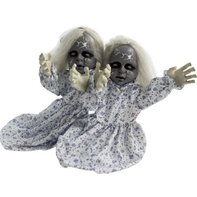 21 in. Touch Activated Animatronic Zombie Twins