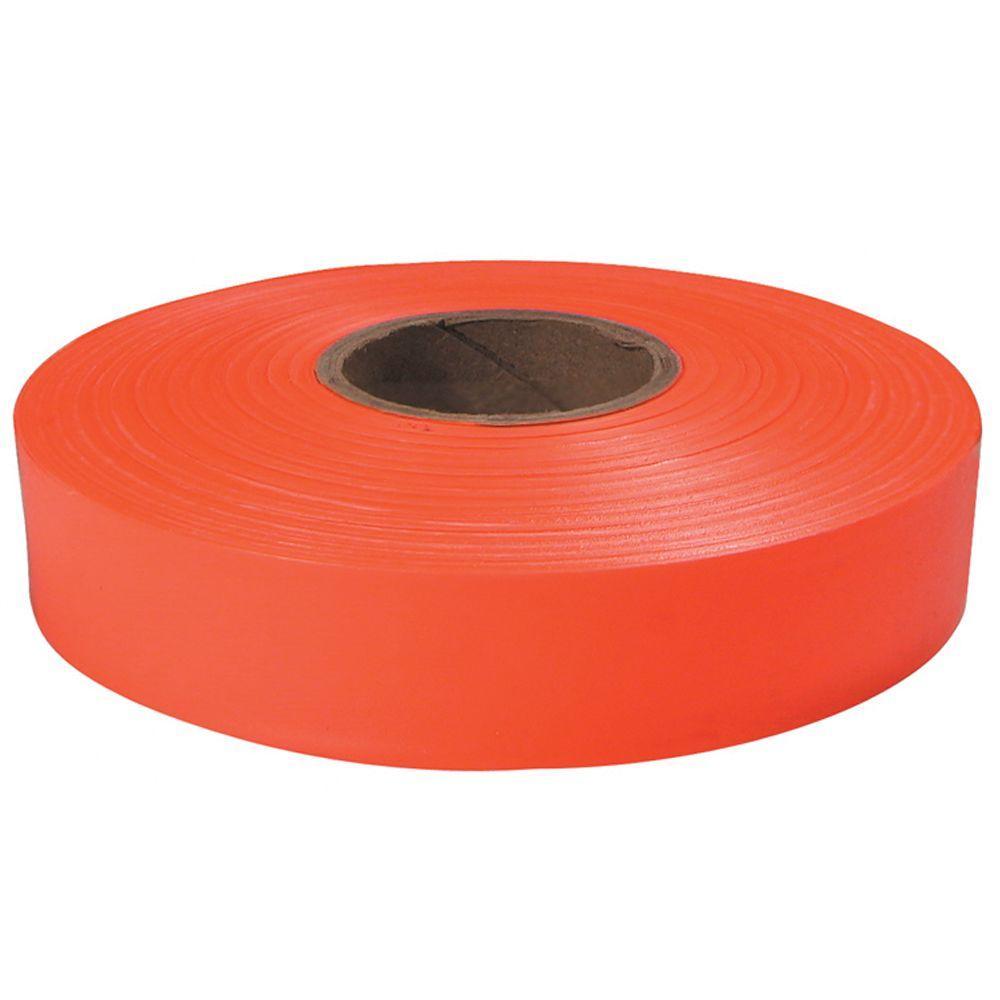 1 in. x 600 ft. Orange Flagging Tape