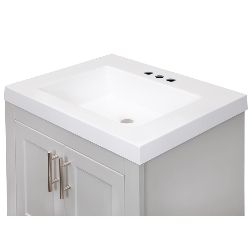 7 diy practical and decorative bathroom ideas.htm glacier bay spa 24 in w x 18 75 in d bath vanity in dove gray  spa 24 in w x 18 75 in d bath vanity