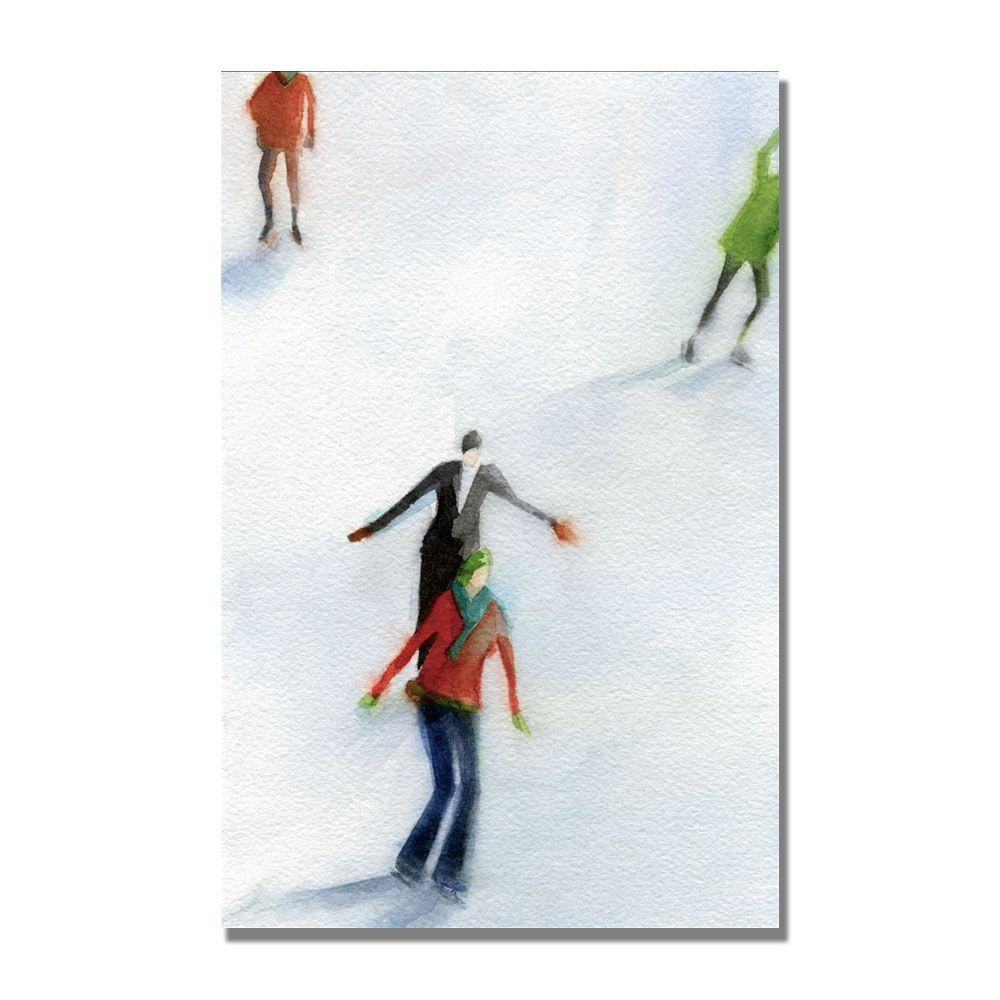 Trademark Fine Art 22 in. x 32 in. Ice Skaters Canvas Art-DISCONTINUED