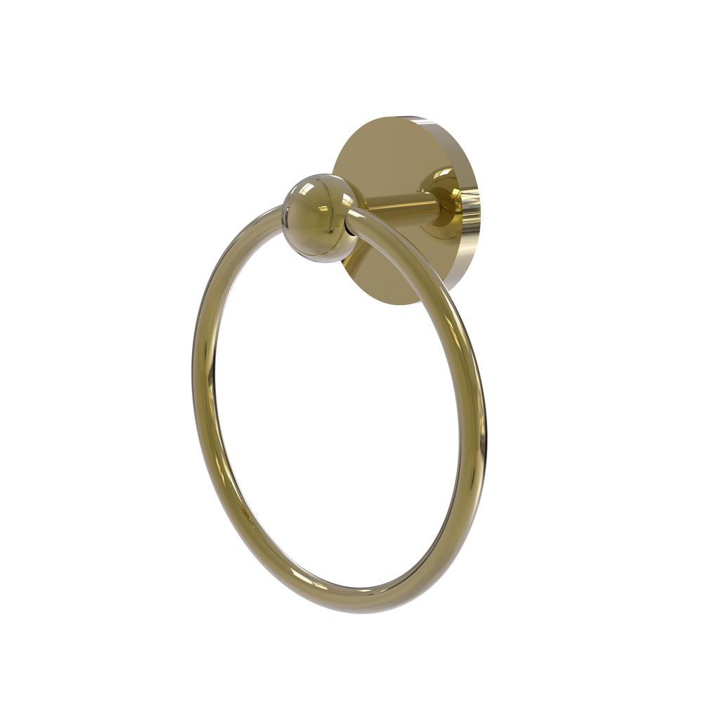 Allied Brass Skyline Collection Towel Ring in Unlacquered Brass