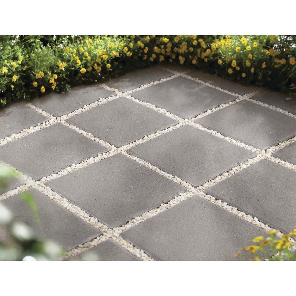 Pewter Square Concrete Step Stone, Extra Large Patio Stones