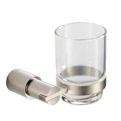 Magnifico Tumbler Holder in Brushed Nickel