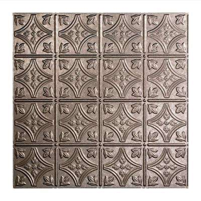 Traditional 1 - 2 ft. x 2 ft. Lay-in Ceiling Tile in Galvanized Steel