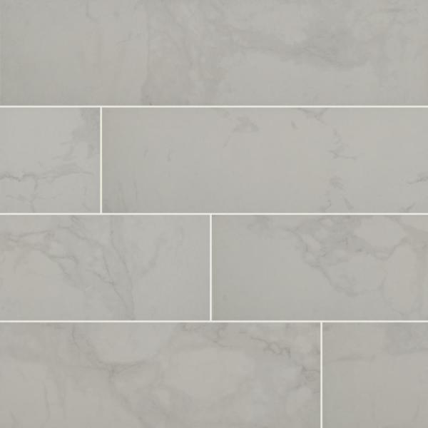Msi Carrara 6 In X 24 In Matte Porcelain Floor And Wall Tile 14 Sq Ft Case Nhdcarwhi6x24 The Home Depot