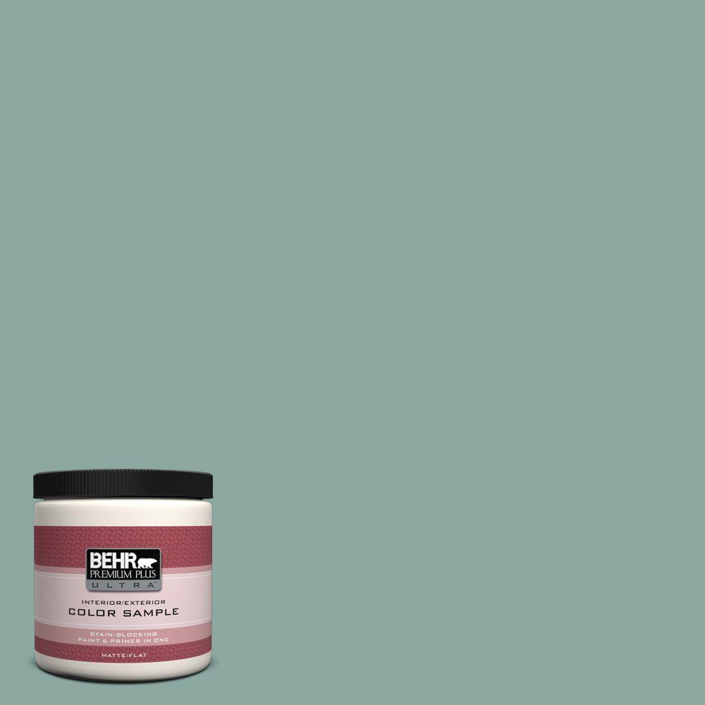 Behr Premium Plus Ultra 8 Oz S430 4 Green Meets Blue Matte