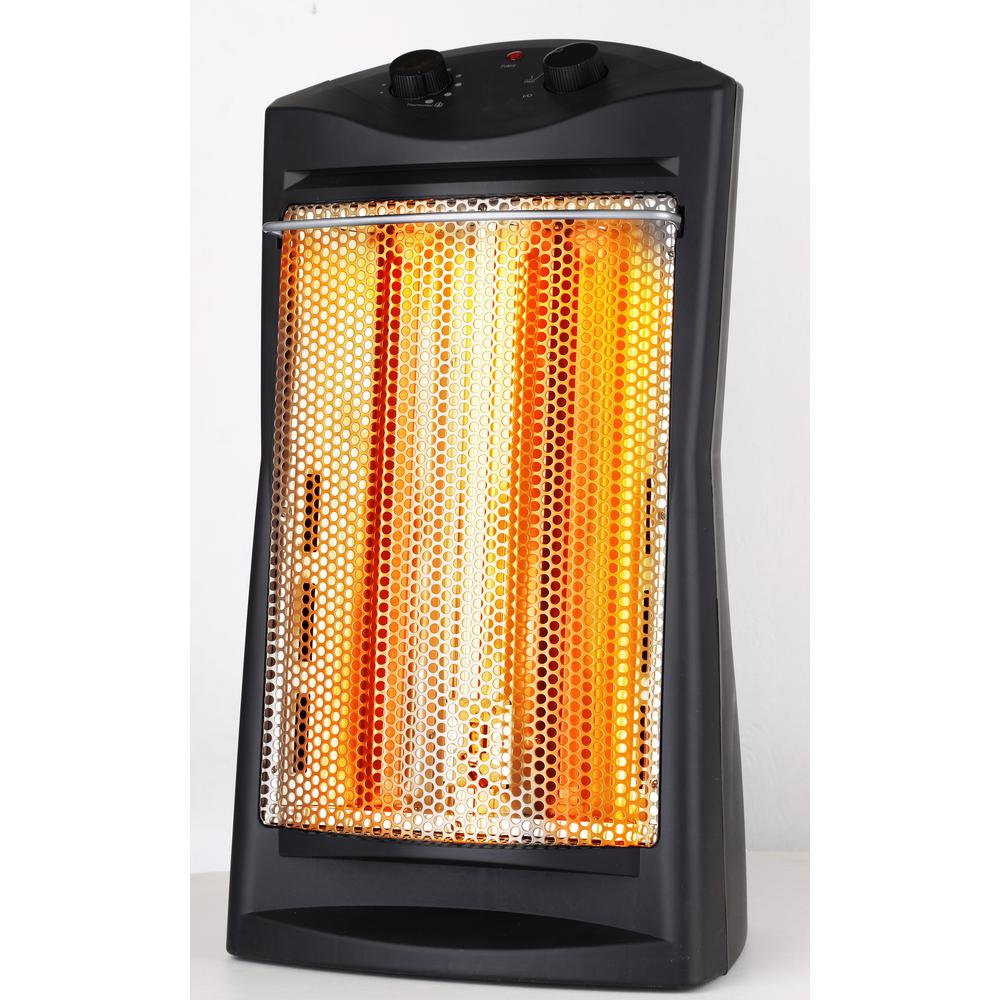SAI 1,500 Watt Infrared Quartz Tower Heater, Black