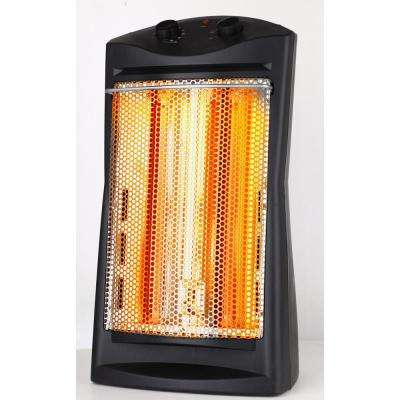 1,500-Watt infrared Quartz Tower Heater, Black