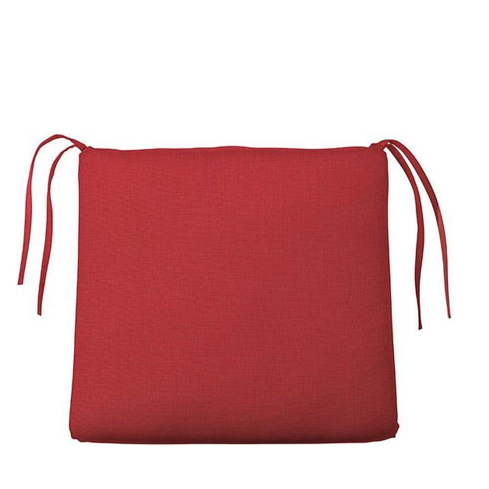 Sunbrella Jockey Red Trapezoid Outdoor Seat Cushion