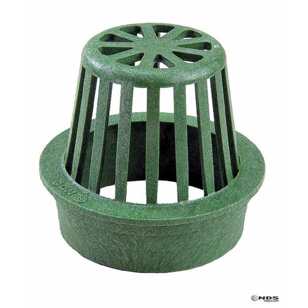 NDS 4 in. Plastic Green Polyolefin Atrium Grate