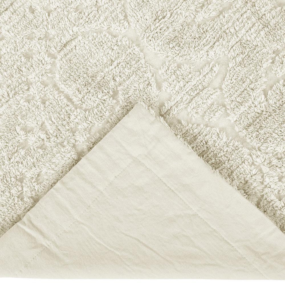 "Bettertrends Ashton Chenille Tufted Standard Pillow Sham 21"" x 27"" Pink"