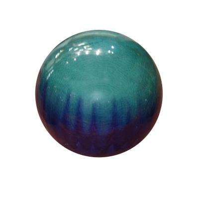 10 in. Blue Ceramic Gazing Globe