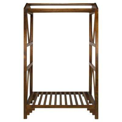 Jambi Warm Brown Space Saving Coat Rack