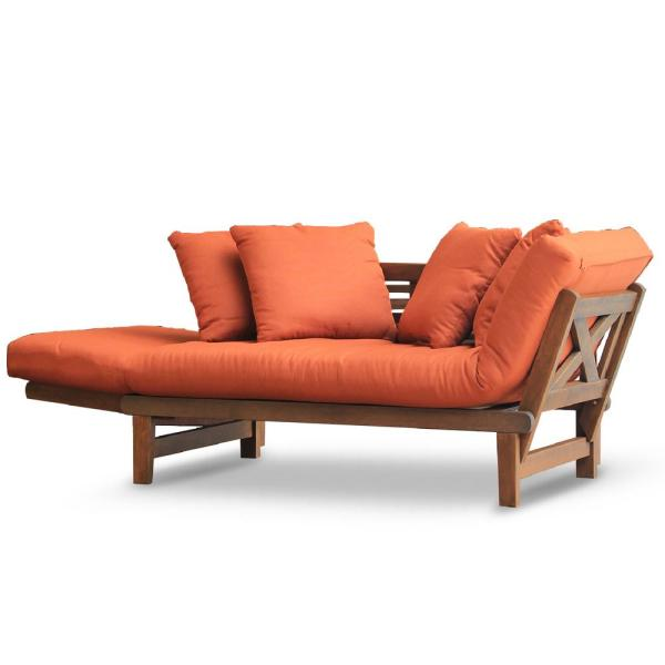 Wood Outdoor Convertible Sofa Daybed