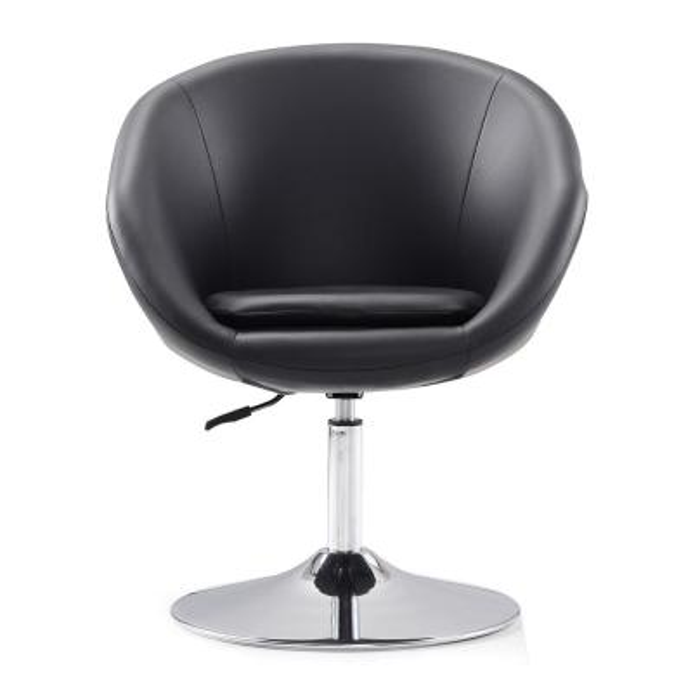 Hopper Black Swivel Adjustable Height Leatherette Chair