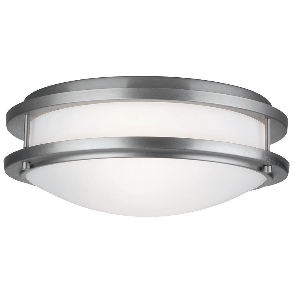 Cambridge 2-Light Satin Nickel Ceiling Fixture