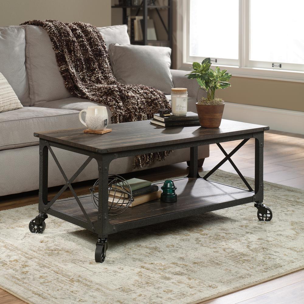 Sauder Steel River Carbon Oak Mobile Coffee Table Deals